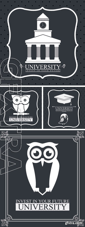 Stock Vectors - University design over grey background, vector illustration