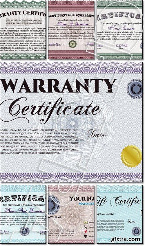 Sample certificate modern design complex background frame sample certificate modern design complex background frame certificate template vector yelopaper Choice Image