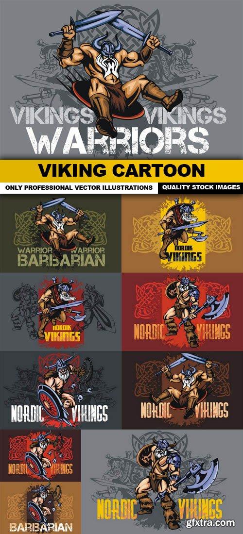 Viking Cartoon - 10 Vector