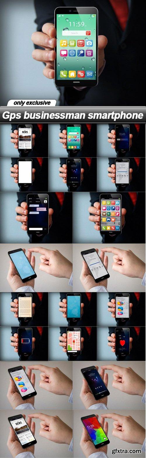 Gps businessman smartphone - 20 UHQ JPEG