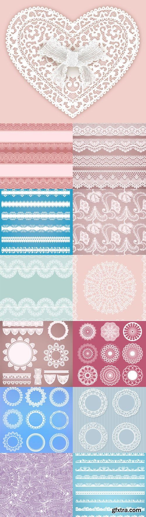 Vector decorative lace