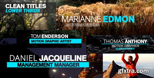 VideoHive Clean Titles Lower Thirds 11401864