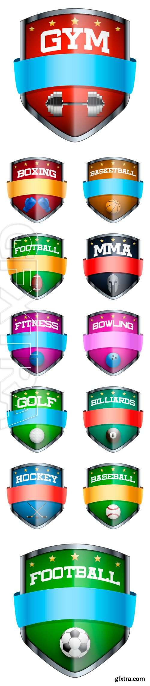 Stock Vectors - The symbol of the sports club or team. Vector Illustration isolated on white background
