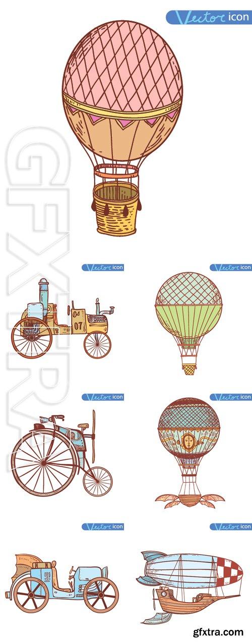 Stock Vectors - Steampunk vintage, hand drawn vector illustration