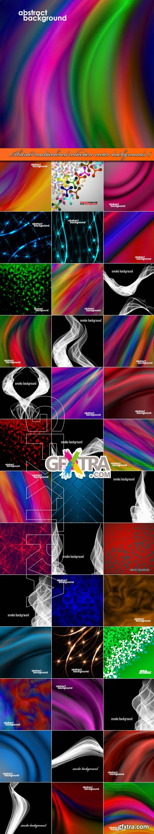 Abstract multicolored collection vector backgrounds 6
