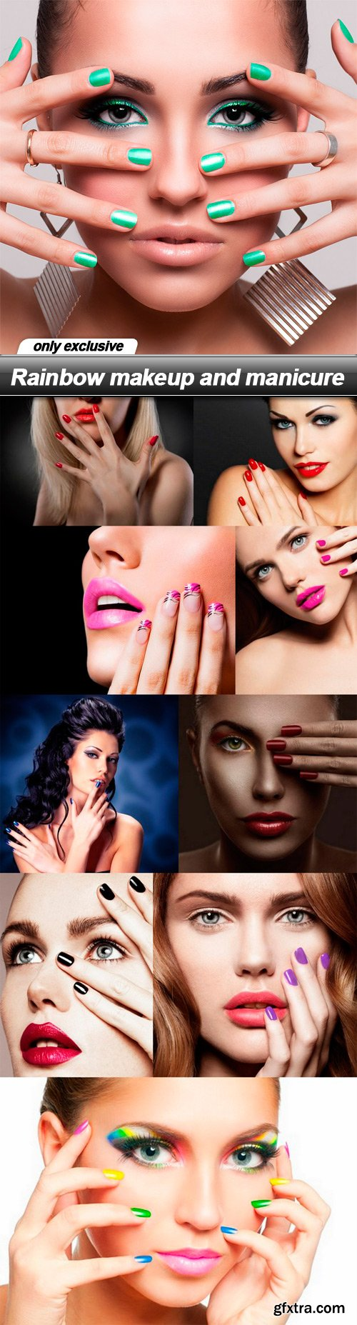 Rainbow makeup and manicure - 10 UHQ JPEG