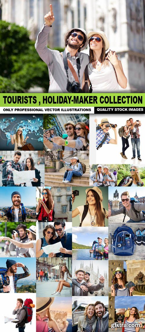 Tourists , Holiday-Maker Collection - 25 HQ Images