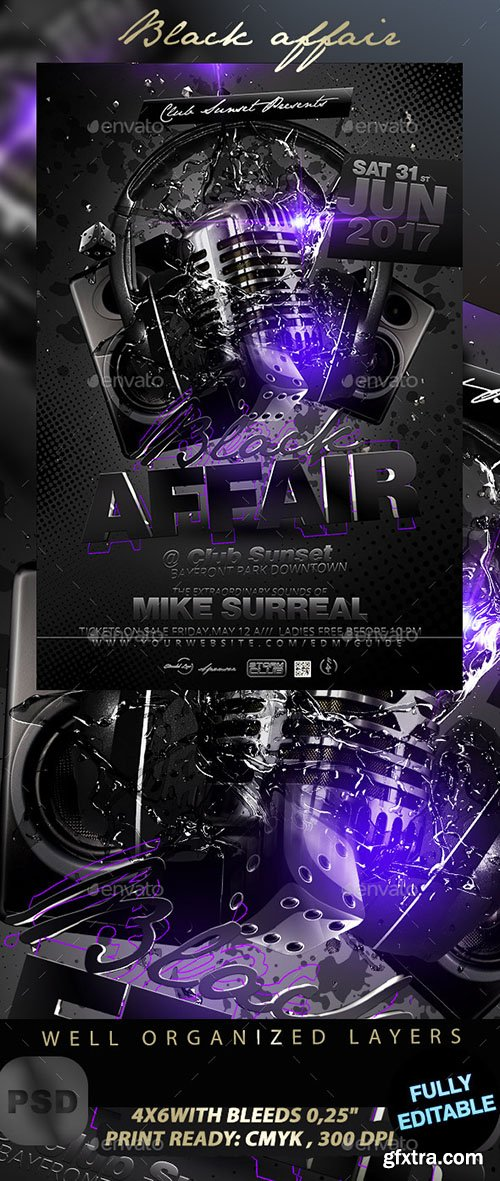 GraphicRiver Black Affair Party Flyer