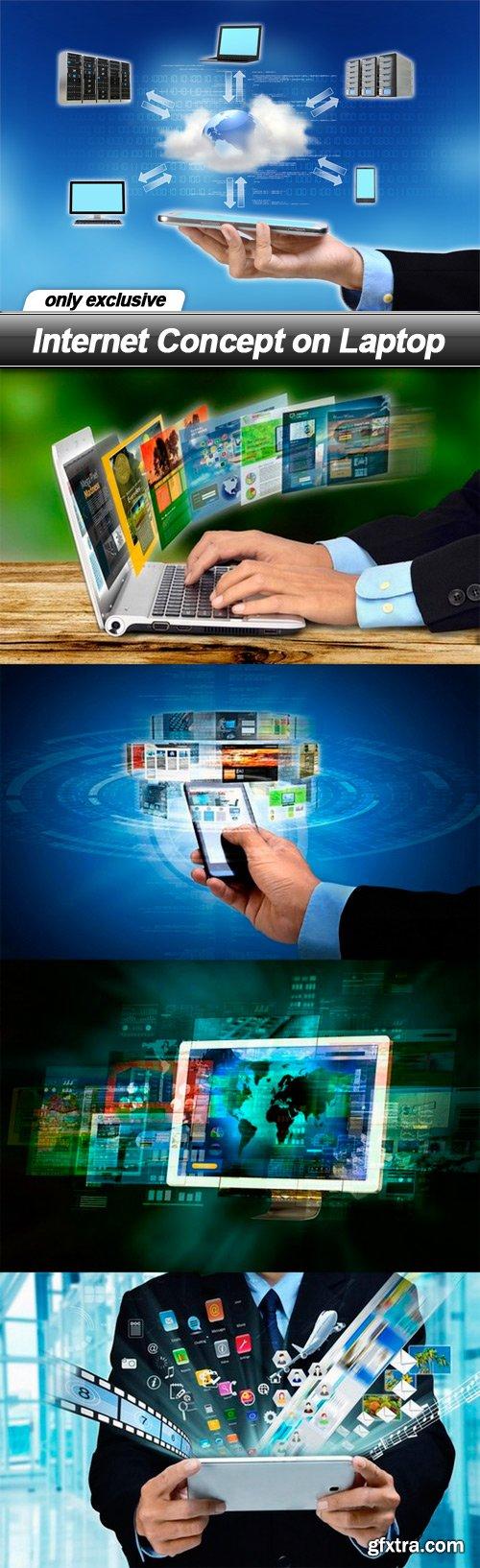Internet Concept on Laptop - 5 UHQ JPEG
