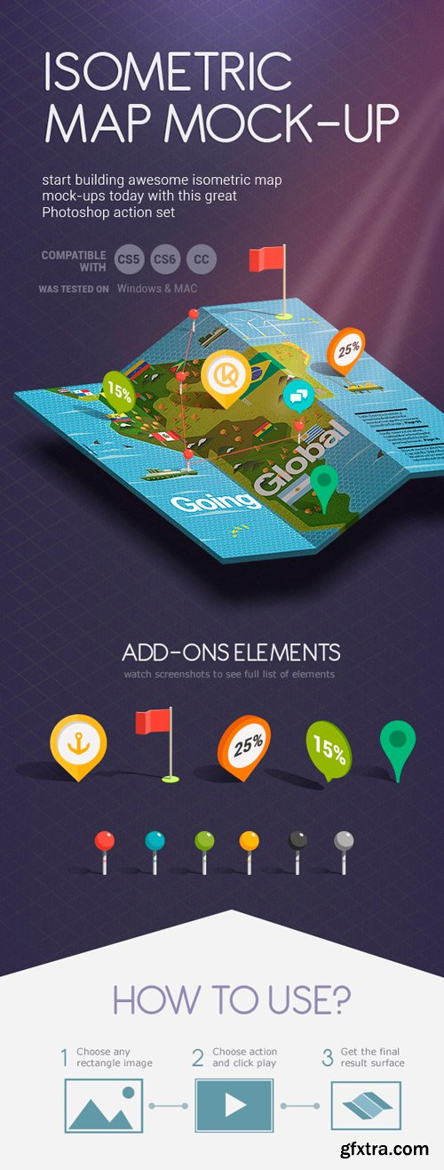 GraphicRiver - Isometric Map Mock-Up Creator 6075371