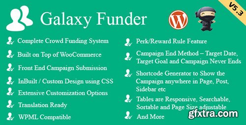 CodeCanyon - Galaxy Funder v5.7 - WooCommerce Crowdfunding System - 7360954