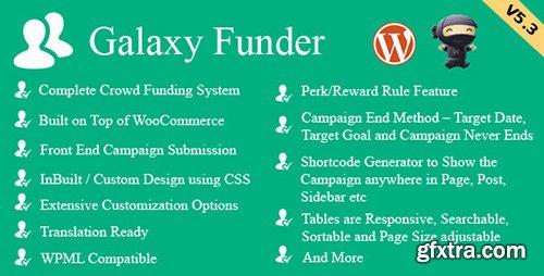 CodeCanyon - Galaxy Funder v5.7 - WooCommerce Crowdfunding System - 7360954