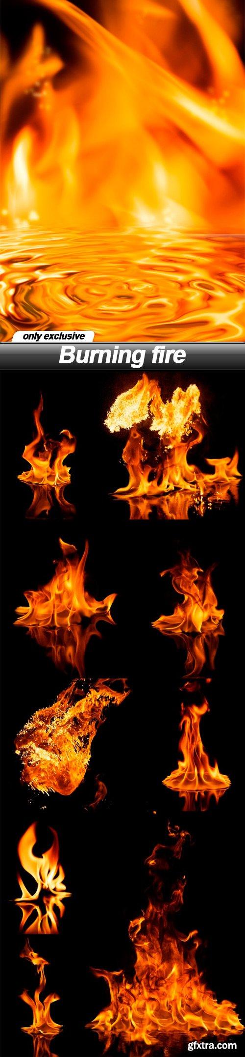 Burning fire - 10 UHQ JPEG