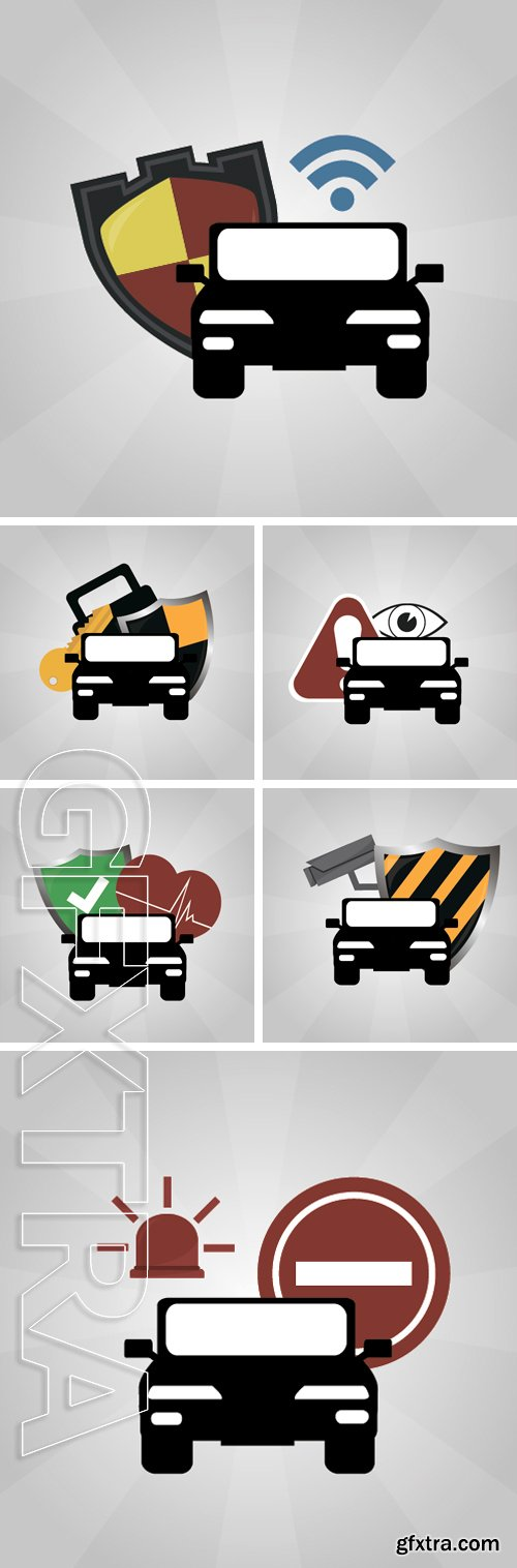 Stock Vectors - Car security illustration over degrade color background