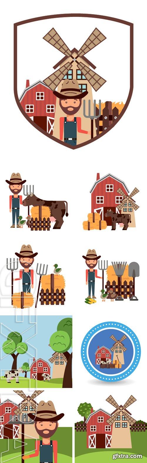 Stock Vectors - Farm concept design, vector illustration graphic