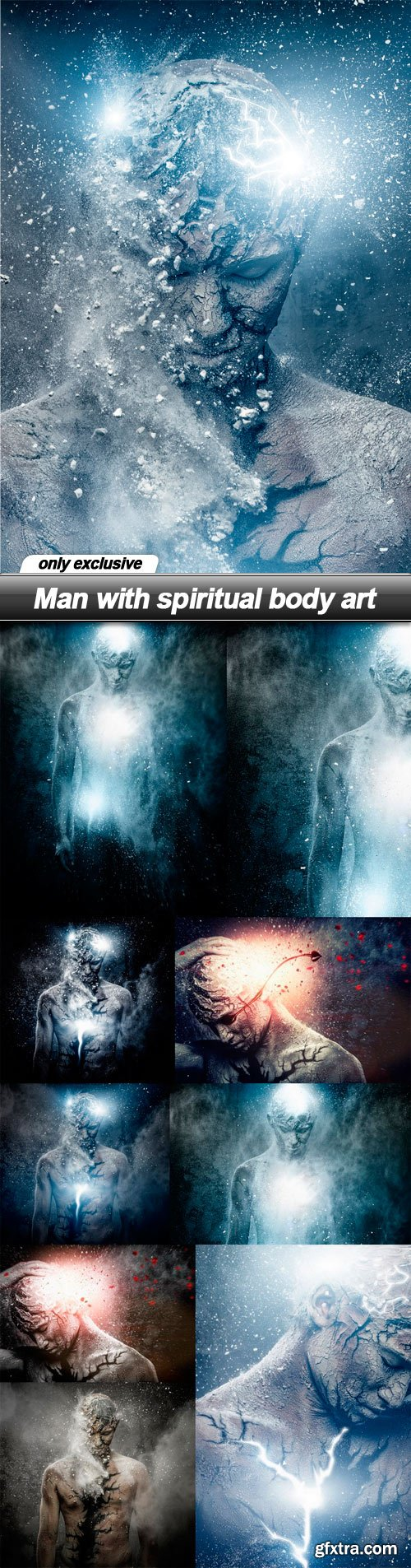 Man with spiritual body art - 10 UHQ JPEG