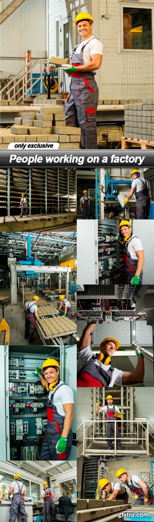 People working on a factory - 10 UHQ JPEG
