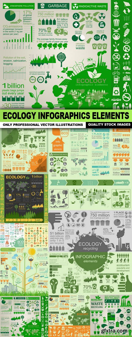 Ecology Infographics Elements - 10 Vector