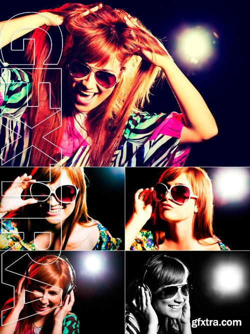 Stock Photos - Party girl, intentionally toned