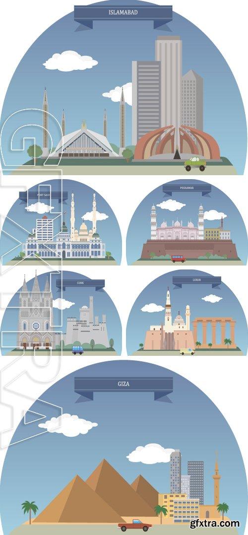 Stock Vectors - Cities stalitsi countries