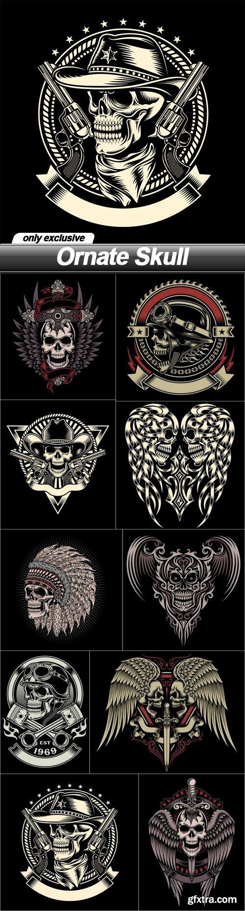 Ornate Skull - 10 EPS