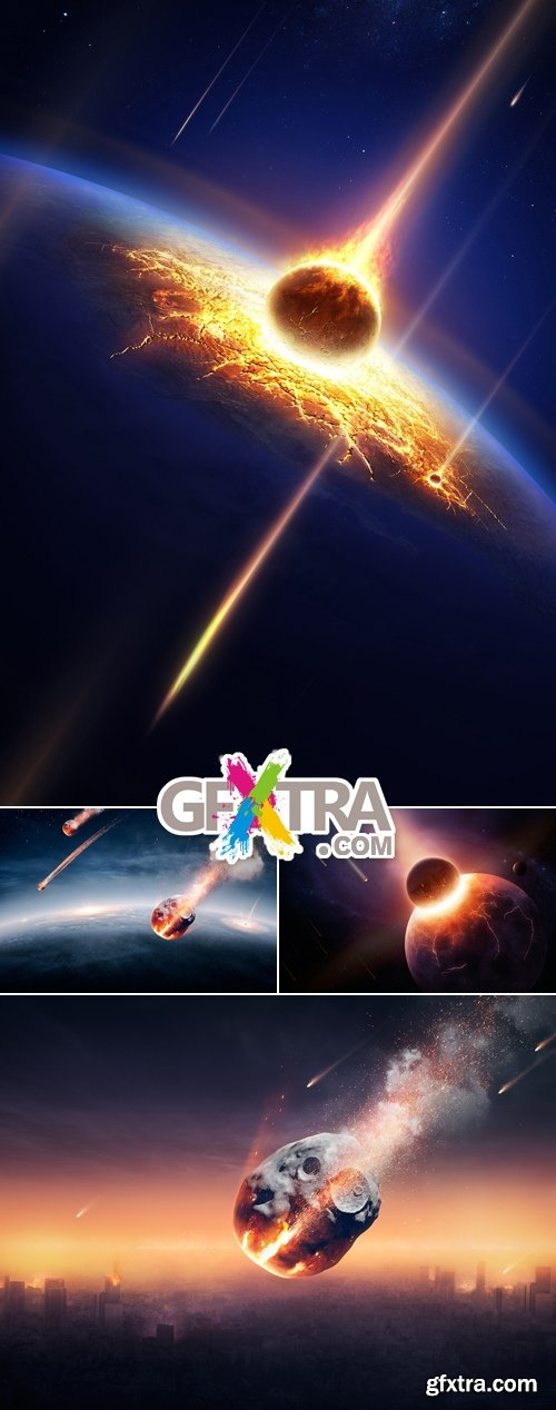 Stock Photo - Meteor Destroying the Earth