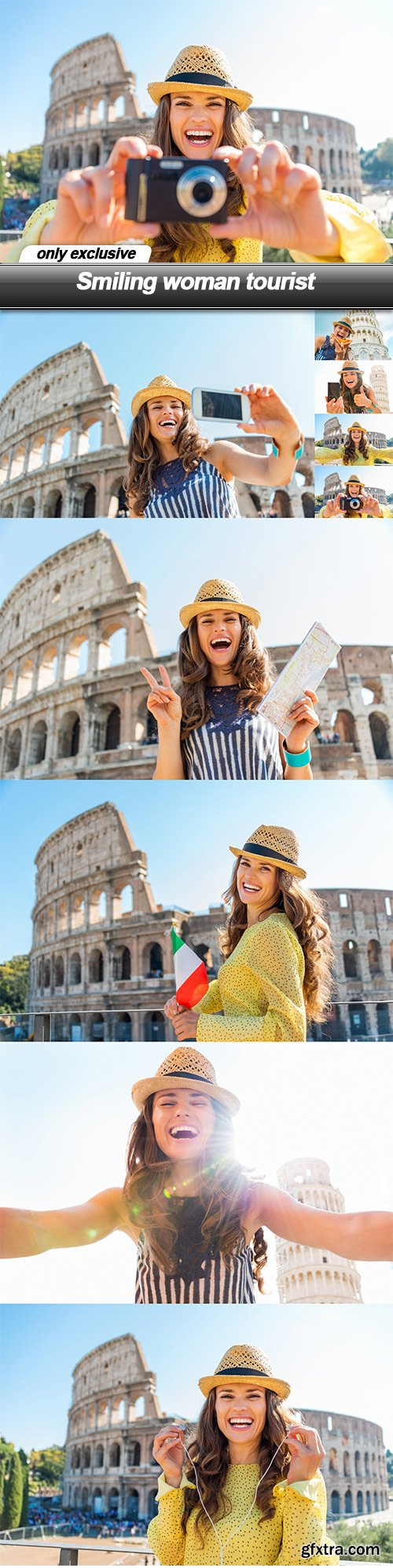Smiling woman tourist - 9 UHQ JPEG