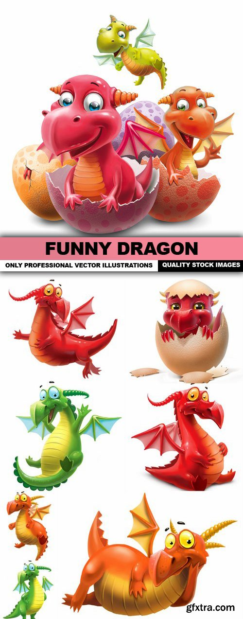 Funny Dragon - 8 HQ Images