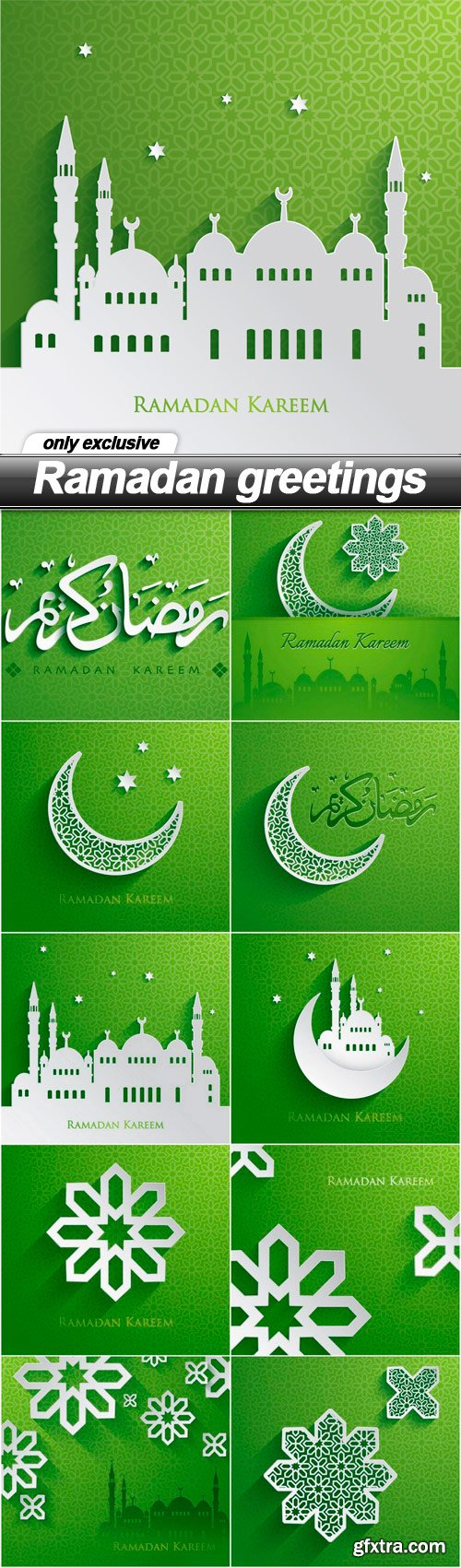 Ramadan greetings - 10 EPS