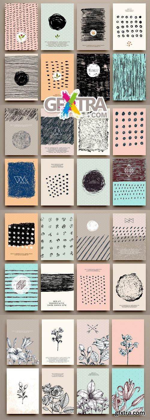 Creative Grunge Cards Vector