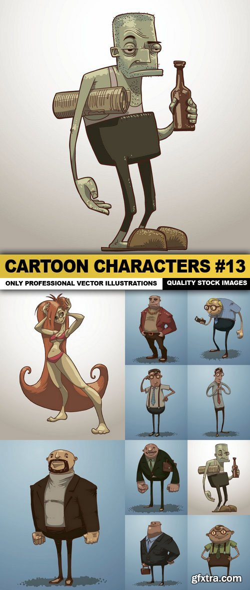 Cartoon Characters #13 - 10 Vector