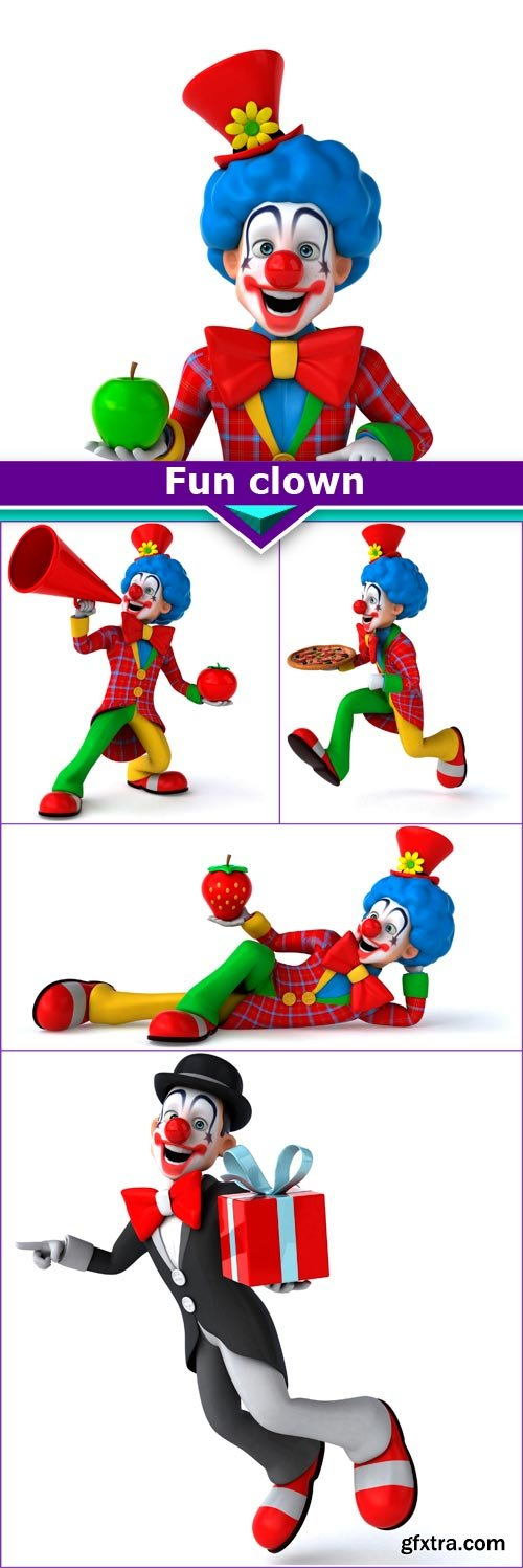 Fun clown 5x JPEG