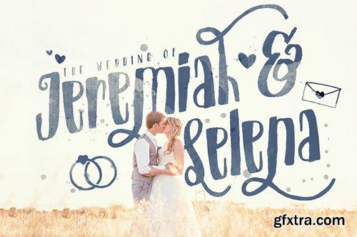 CM Just Married! Wedding Pack Font Bundle 294477