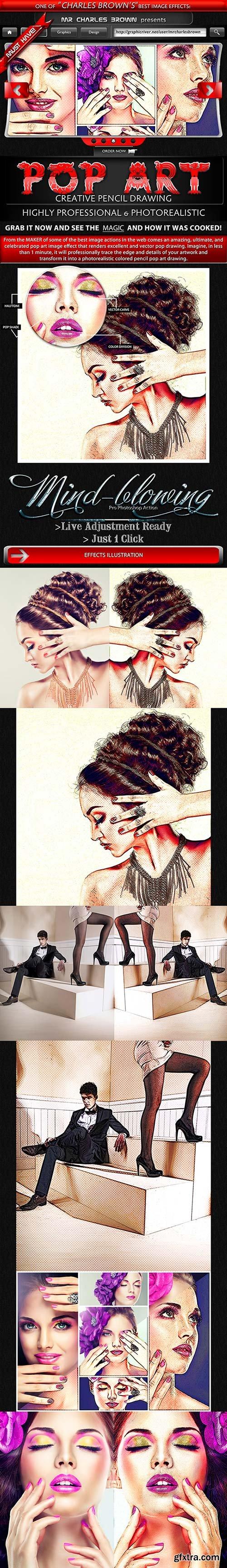 GraphicRiver - Creative Pop Art Pencil Drawing 5148941