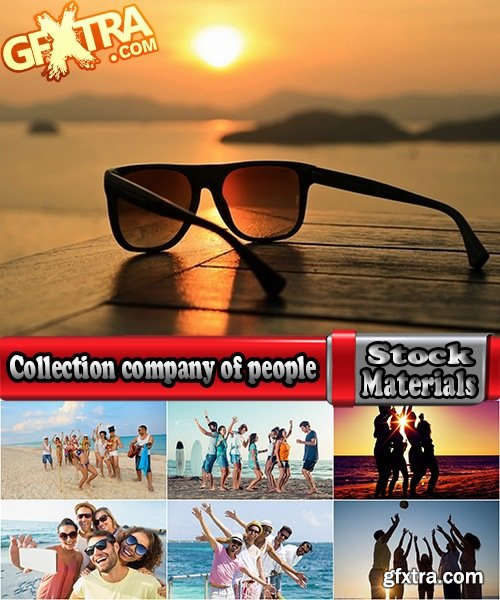 Collection company of people at the beach party fun beach vacation sea 25 HQ Jpeg
