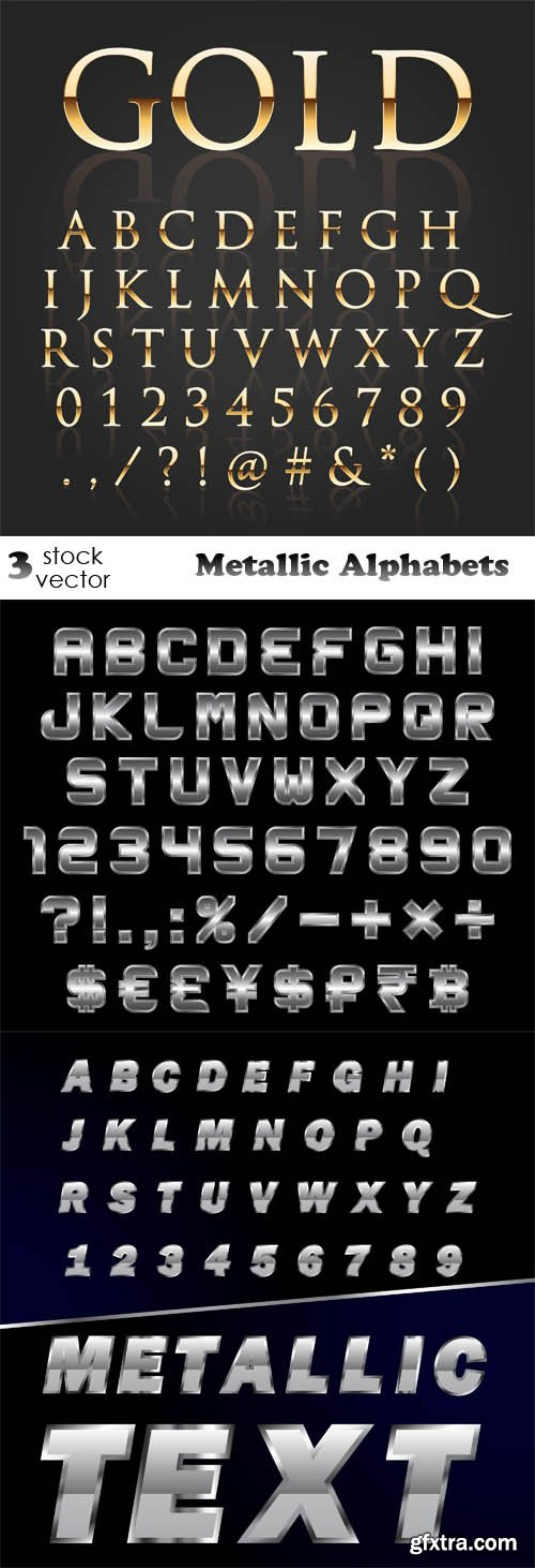 Vectors - Metallic Alphabets