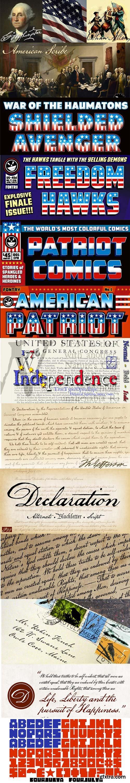 Independence Day 101 Fonts Bundle $855