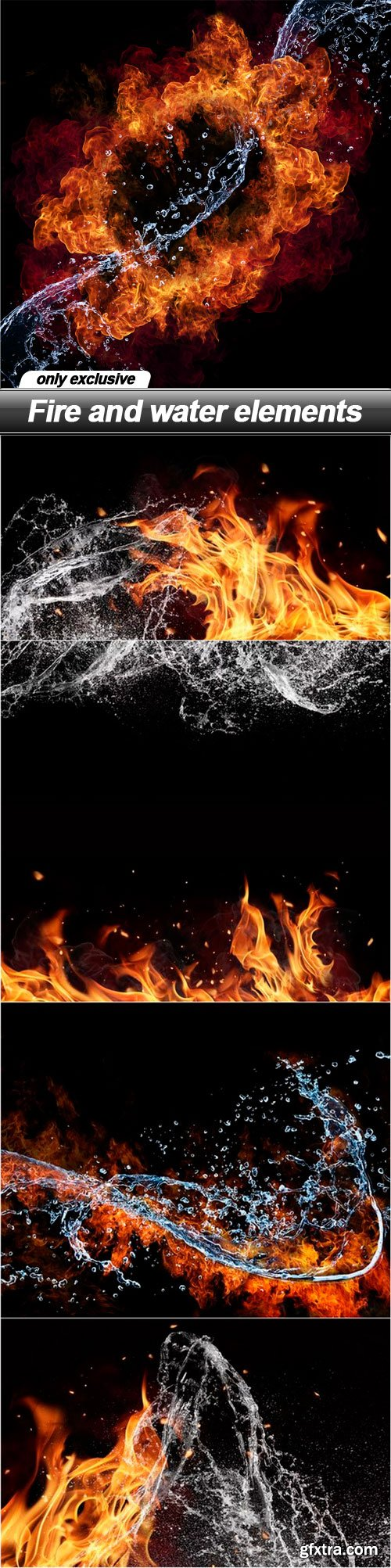 Fire and water elements - 5 UHQ JPEG
