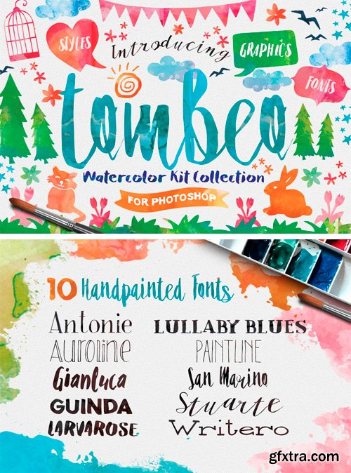 Tombeo Watercolor Kit Collection