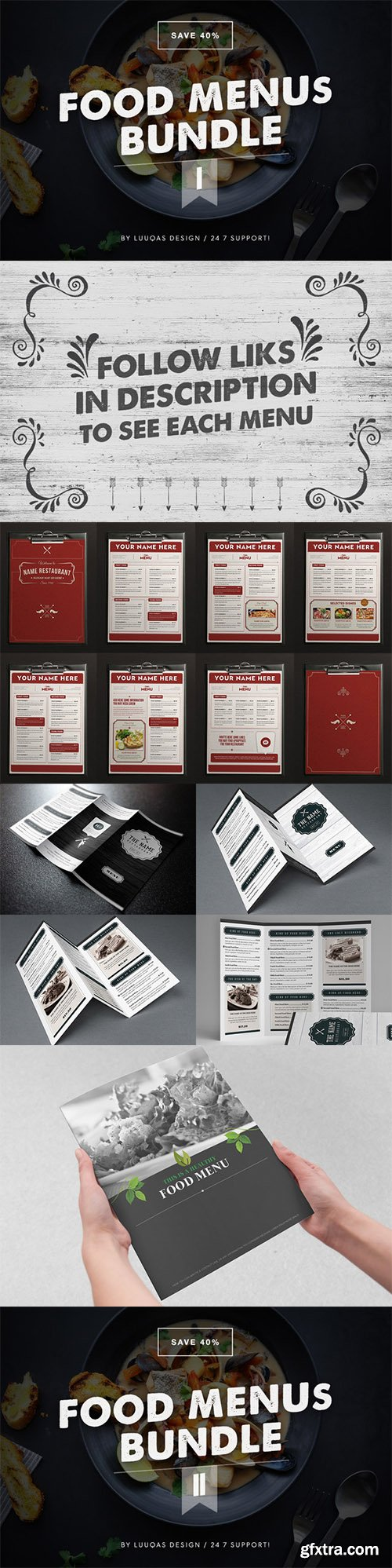 CM Food Menus Bundle 1 and 2 299991 299594