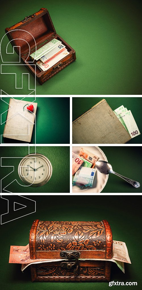 Stock Photos - Simple conceptual composition symbolically presenting value of books
