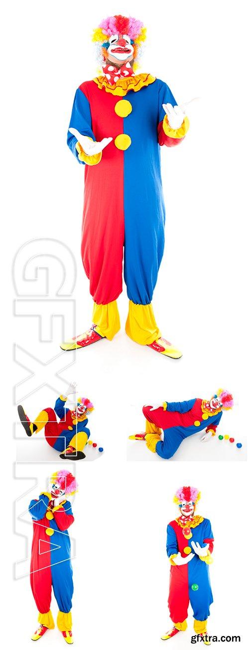 Stock Photos - Studio shot of a Crazy Clown