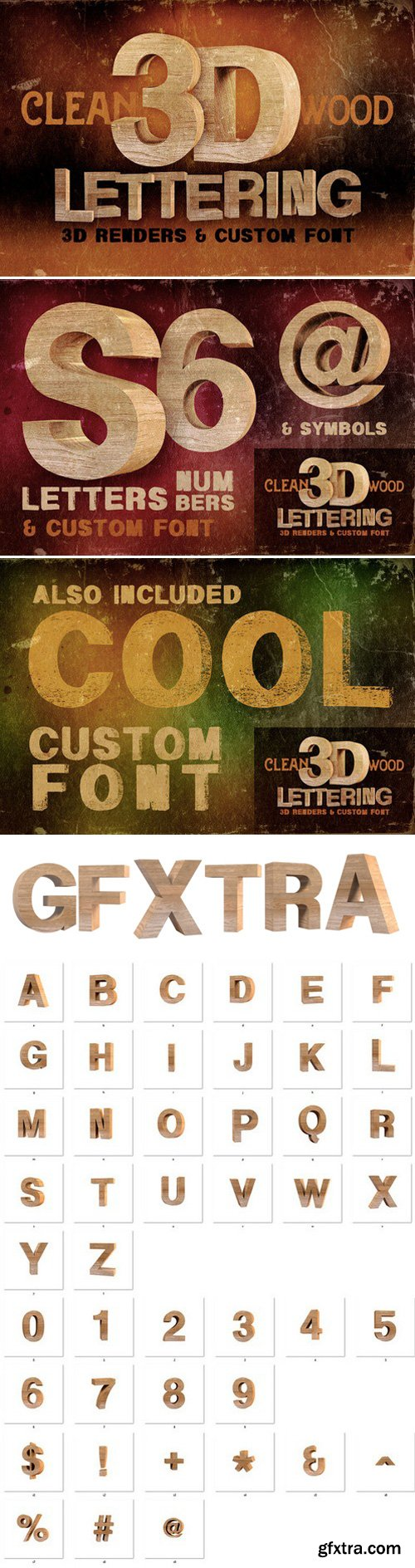 CM - Wood - 3D Lettering + Font 301884