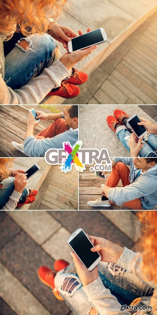Stock Photo - Young People with Smartphone