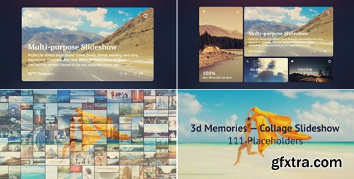 Videohive 3d Memories — Collage Slideshow 11681886