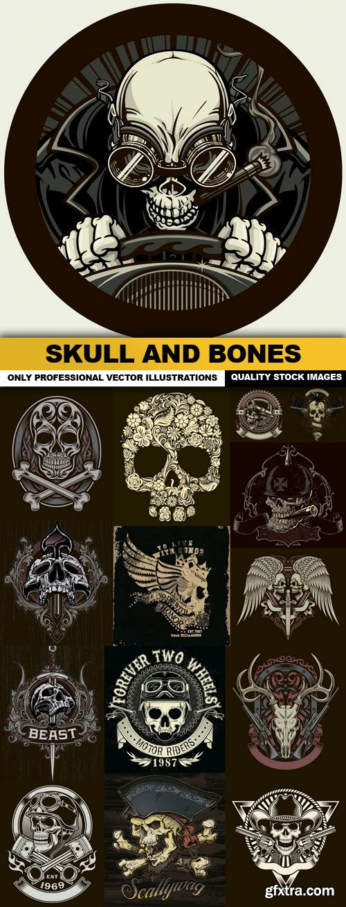 Skull And Bones - 15 Vector