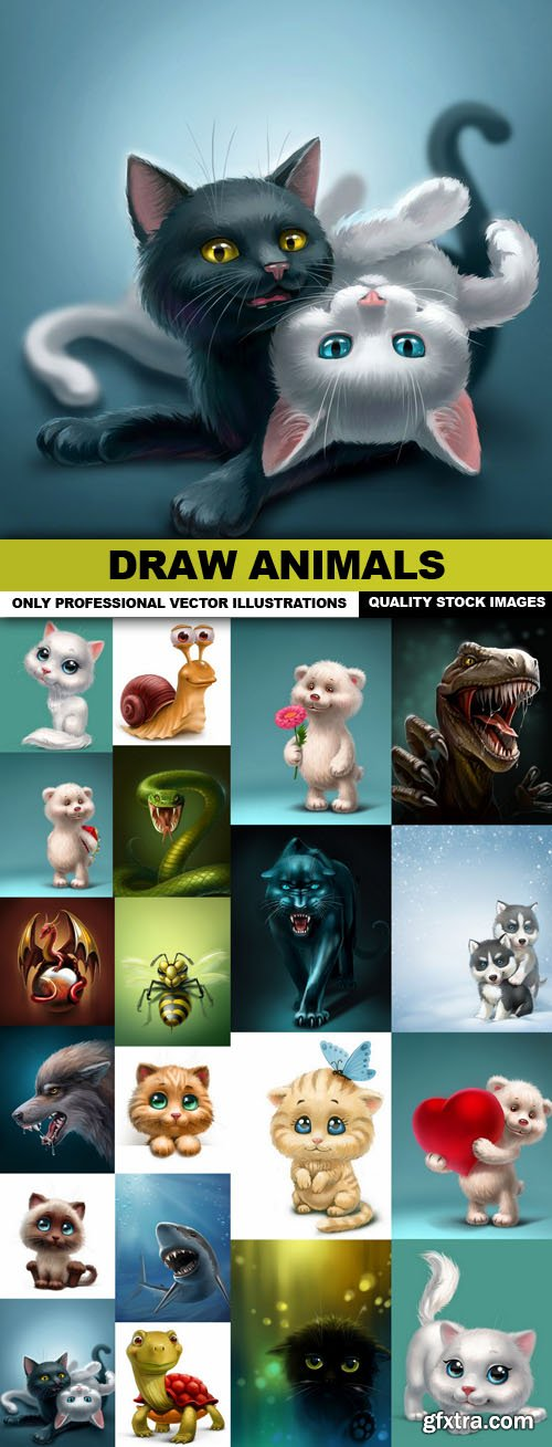 Draw Animals - 20 HQ Images