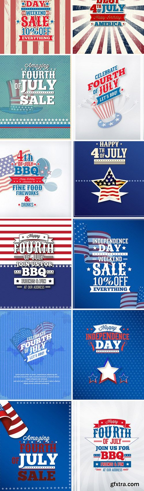 Independence Day Vector Illustrations
