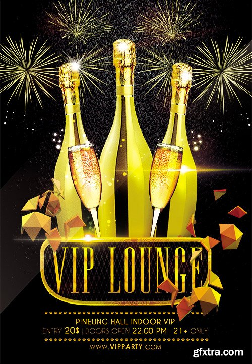 Vip Lounge Flyer PSD Template + Facebook Cover