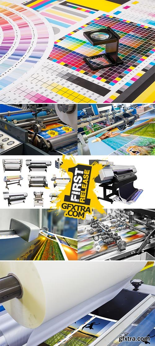 Stock Photos Digital press printing is the reproduction of digital images on a physical surface